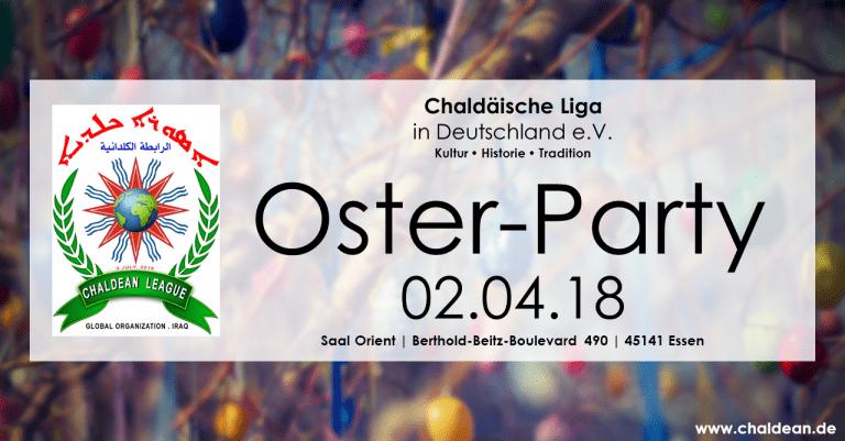 Einladung zur Oster-Party der Chaldäischen Liga
