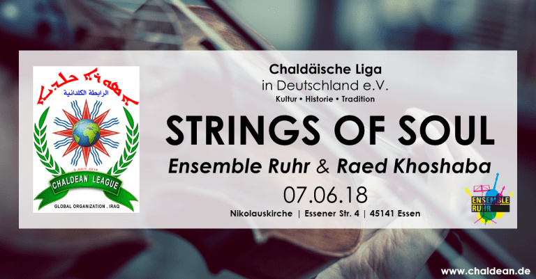 Einladung zu STRINGS OF SOUL – Musik mit Oud & Ensemble Ruhr